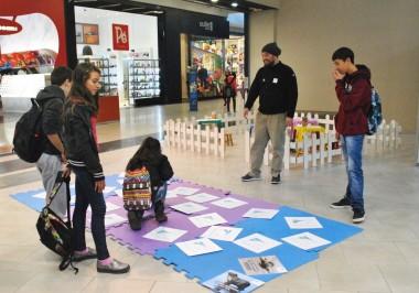 Projeto Pinípedes do Sul realiza atividade no Praça Shopping Rio Grande na semana do Meio Ambiente